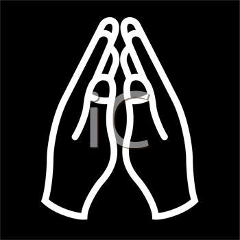 Royalty Free Clipart Image of Praying Hands