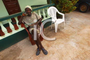 Royalty Free Photo of a Person Sitting