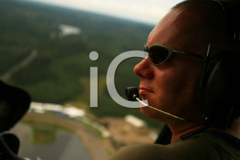 Royalty Free Photo of a Helicopter Pilot