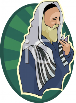 Royalty Free Clipart Image of a Rabbi