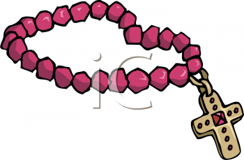 Royalty Free Clipart Image of a Rosary