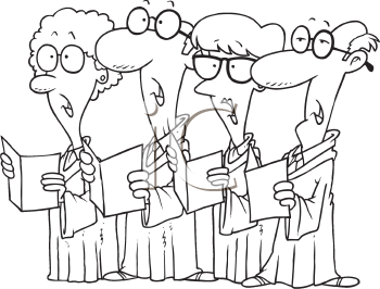 Royalty Free Clipart Image of a Choir
