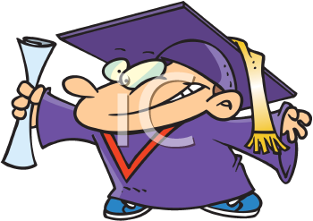 Royalty Free Clipart Image of a Graduating Child