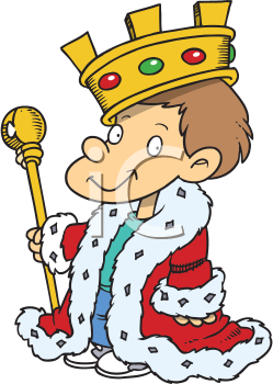 Royalty Free Clipart Image of a Little King