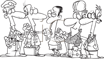 Royalty Free Clipart Image of Different Occupations
