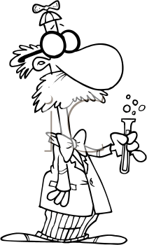 Royalty Free Clipart Image of a Weird Scientists