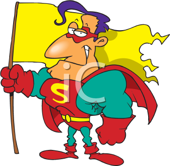 Royalty Free Clipart Image of a Super Guy