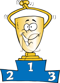 Royalty Free Clipart Image of a First-Place Trophy