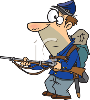 Royalty Free Clipart Image of a Union Soldier