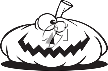 Royalty Free Clipart Image of a Jack O' Lantern