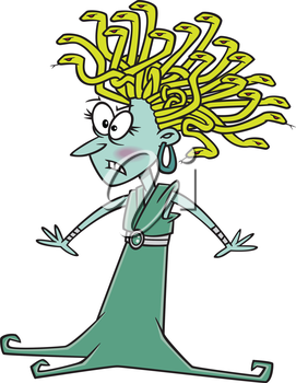 Royalty Free Clipart Image of Medusa