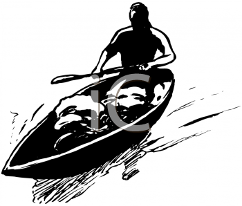 Royalty Free Clipart Image of a Canoe