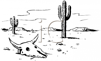 Royalty Free Clipart Image of a Desert