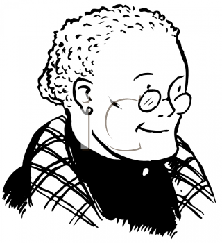 Royalty Free Clipart Image of an Old Woman