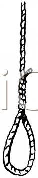 Royalty Free Clipart Image of a Noose