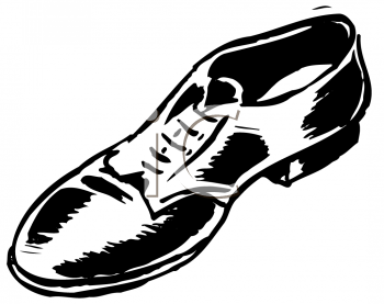 Royalty Free Clipart Image of a Man's Shoe