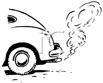 Royalty Free Clipart Image of Car Exhaust