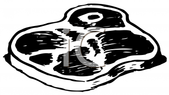 Royalty Free Clipart Image of a Steak