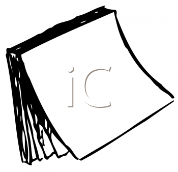 Royalty Free Clipart Image of a Sticky Note