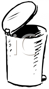 Royalty Free Clipart Image of a Waste Basket