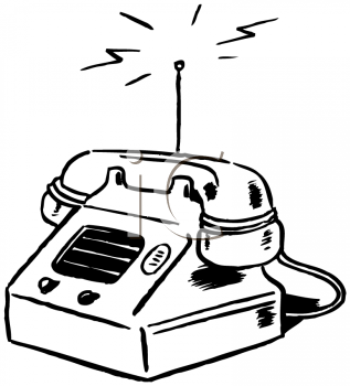 Royalty Free Clipart Image of a Wireless Phone