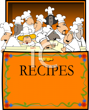 Royalty Free Clipart Image of a Recipe Box