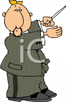 Royalty Free Clipart Image of a Conductor