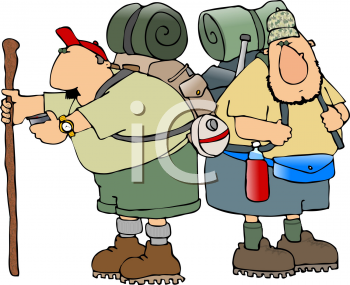 Royalty Free Clipart Image of Hikers