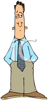Royalty Free Clipart Image of a Man Looking Skeptical