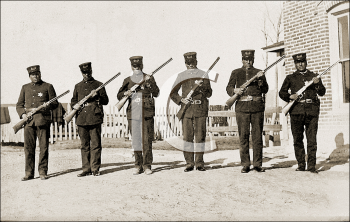 Royalty Free Photo of a Group of Military Men