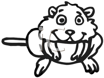 Royalty Free Clipart Image of a Hamster