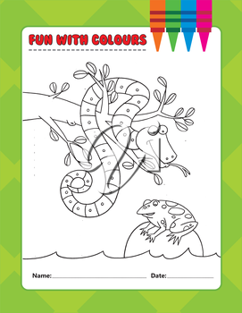 Royalty Free Clipart Image of a Snake and Frog