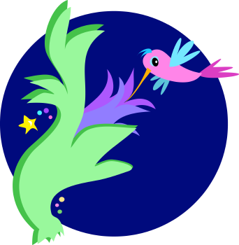 Royalty Free Clipart Image of a Hummingbird at Night
