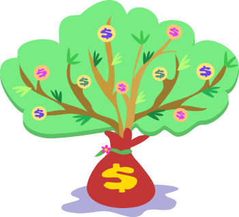 Royalty Free Clipart Image of a Money Tree