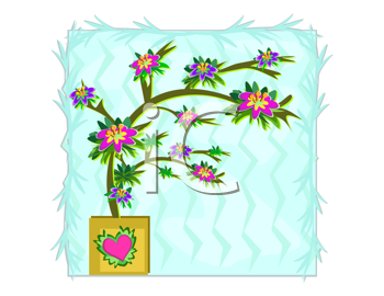 Royalty Free Clipart Image of a Plant in a Pot