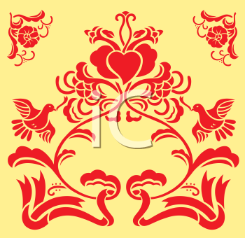 Royalty Free Clipart Image of a Wedding Day Decoration