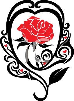 Royalty Free Clipart Image of a Rose