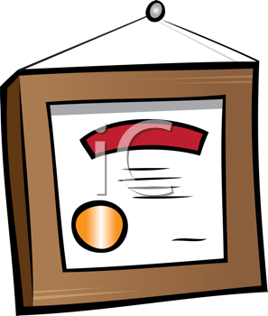 Royalty Free Clipart Image of a Diploma