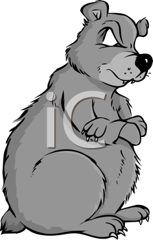 Royalty Free Clipart Image of a Grizzly Bear