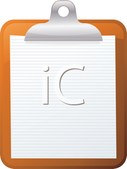 Royalty Free Clipart Image of a Clipboard