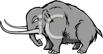 Royalty Free Clipart Image of a Woolly Mammoth