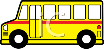 Royalty Free Clipart Image of a Schoolbus