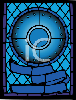 Royalty Free Clipart Image of a Church Stained Glass Window