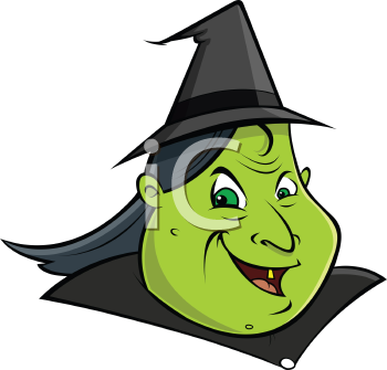 Royalty Free Clipart Image of a Witch