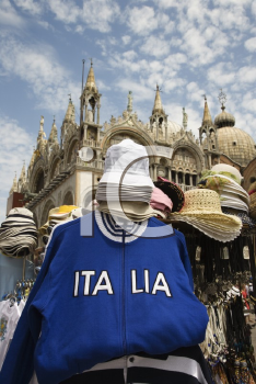 Royalty Free Photo of Souvenir Items for Sale on Street in Venice, Italy