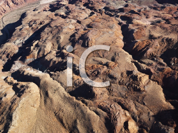 Royalty Free Photo of an Aerial view of Grand Canyon National Park in Arizona, USA