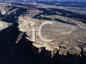 Royalty Free Photo of an Aerial View of Utah Canyonlands With Landforms