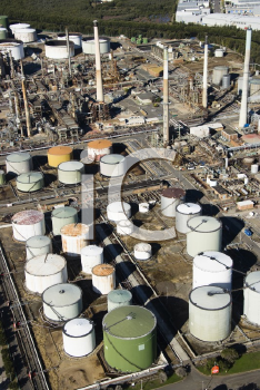 Royalty Free Photo of an Aerial View of an Oil Refinery in Australia