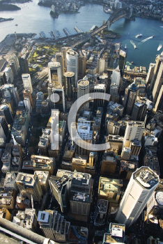 Royalty Free Photo of an Aerial View of Downtown Sydney, Australia