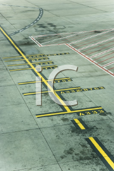 Royalty Free Photo of Lines on a Runway Concrete at Melbourne Airport, Australia